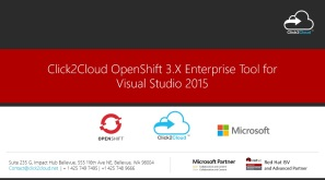 Click2Cloud Docker Container and Kubernetes based OpenShift 3.X Enterprise Tool for Visual Studio 2015