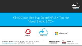 Click2Cloud OpenShift2.X Tool for Visual Studio 2012+
