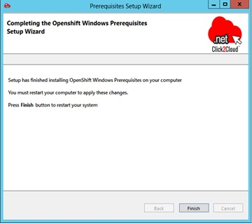 Installing Red Hat OpenShift Environment using Click2Cloud Auto Script - Install Win Node - Wizard Finish.jpg