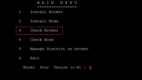 Installing Red Hat OpenShift Environment using Click2Cloud Auto Script - Linux Broker installation - Install broker _ Check Broker.jpg
