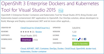 Docker OpenShift 3 Extension for Visual Studio